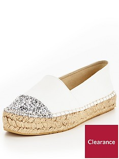 v-by-very-evelyn-glitter-toe-cap-espadrille-white