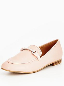 v-by-very-patsy-gold-trim-loafer-pink