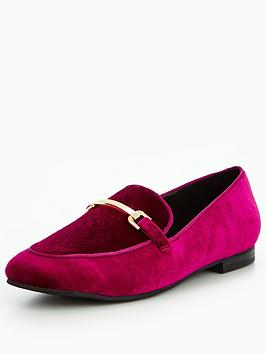 v-by-very-patsy-velvet-gold-trim-loafer-magenta