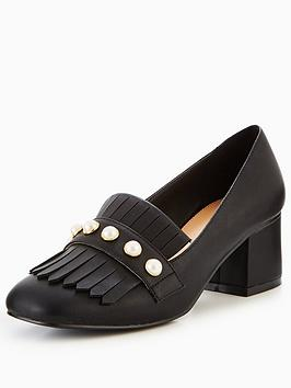 v-by-very-natalie-pearl-detail-heeled-loafer-black