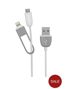 cygnett-2connect-2-in-1-12m-round-cable-white