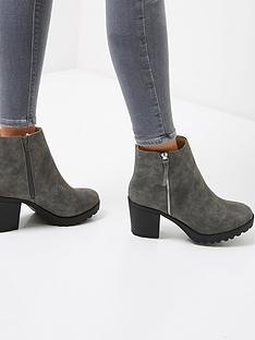 river-island-river-island-ikra-side-zip-tab-ankle-boot-grey