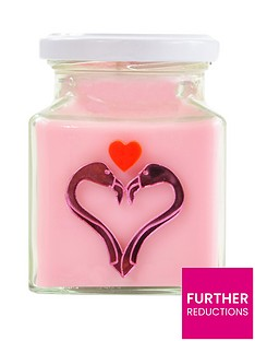 flamingo-candles-pink-love-birds-valentinersquos-candle