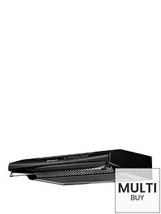 hotpoint-pslcse65fask-60cm-visor-cooker-hood-black