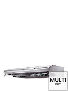 hotpoint-pslcse65fasx-60cm-visor-cooker-hood-stainless-steel