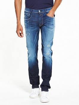 Hyperflex Anbass Rip And Repair Slim Fit Jeans