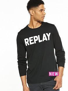 replay-large-logo-long-sleeve-tshirt