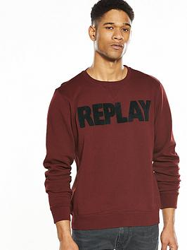 replay-large-logo-crew-sweat