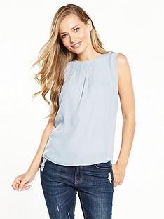 v-by-very-sleeveless-wrap-back-blouse