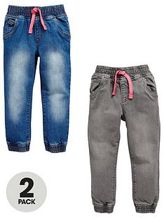 mini-v-by-very-toddler-girls-2pk-elasticated-waist-jean
