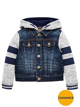 mini-v-by-very-boys-jersey-sleeve-denim-hooded-jacket