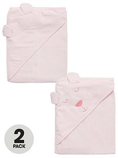 ladybird-baby-girls-hooded-2pack-bear-towels