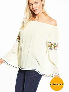 v-by-very-embroidered-sleeve-bardot-top