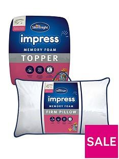 silentnight-impress-25cm-memory-foam-mattress-topper-and-pair-of-pillows-bundle