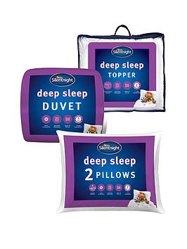 silentnight-deep-sleep-135-tog-duvet-pillow-pair-and-mattress-topper-bundle