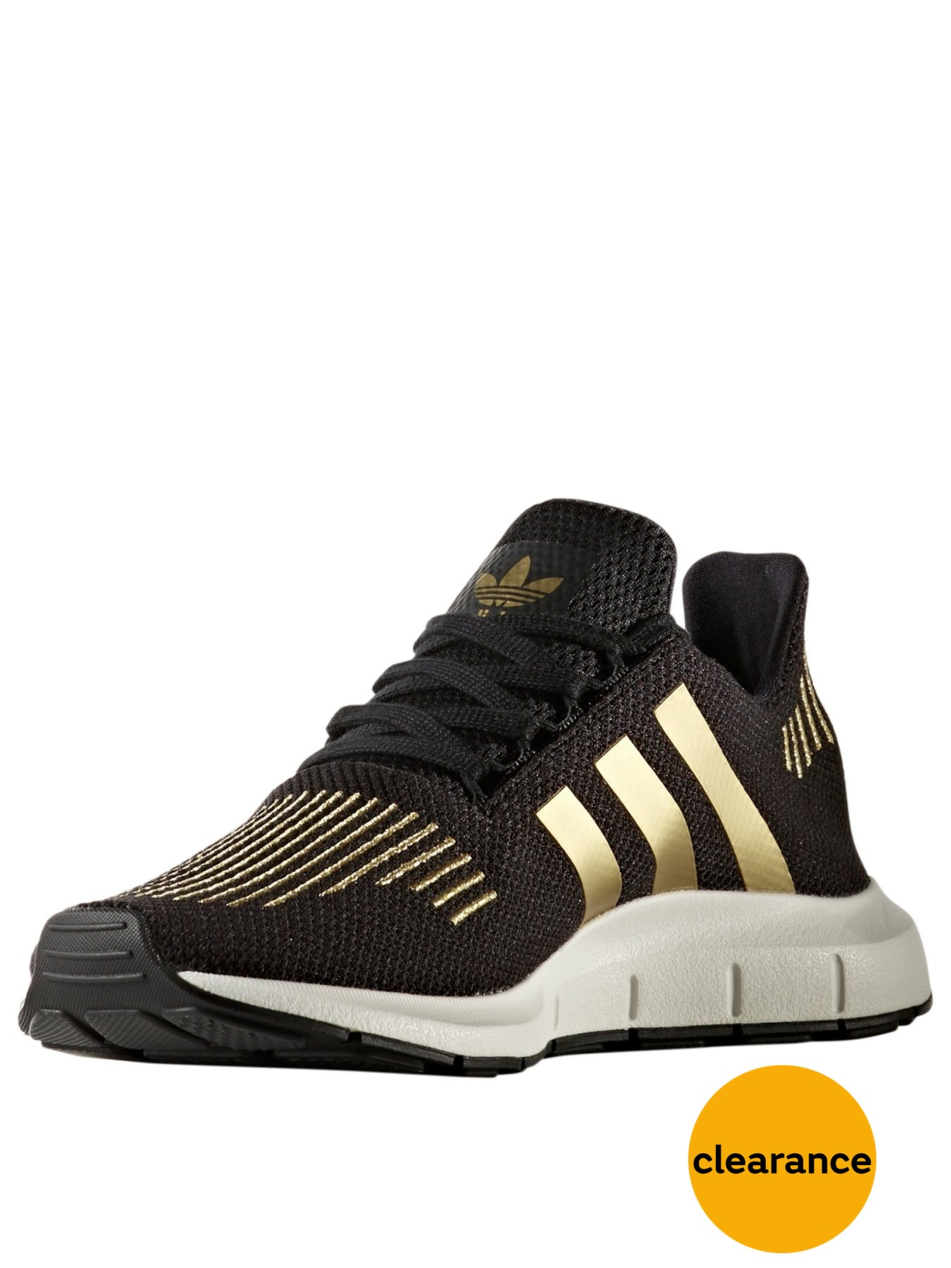 adidas Originals Swift Run Black/Gold 1600157791 Women's Shoes adidas Originals Trainers