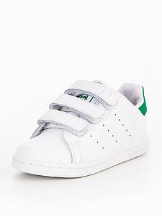 adidas-originals-stan-smith-cf-infant-trainer-whitegreen
