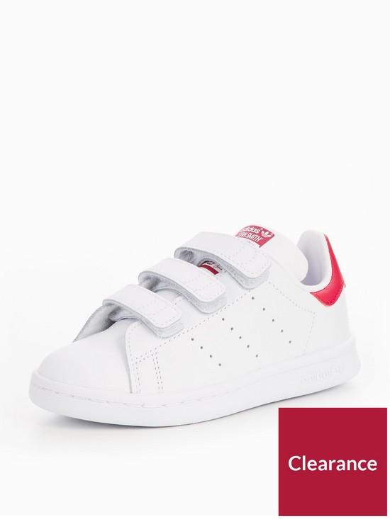 3edeb808db1 adidas Originals Stan Smith CF Childrens Trainer - White Pink