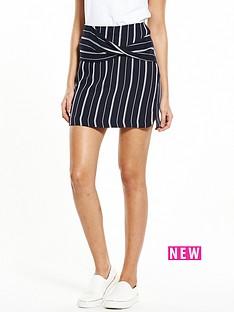 river-island-river-island-pinstripe-wrap-skirt