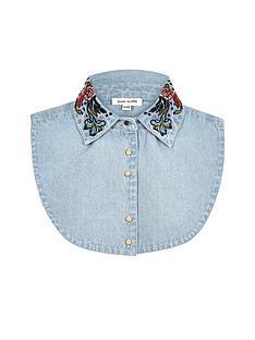 river-island-river-island-embroidered-denim-collar