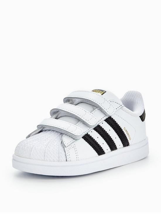 f7d321d6c02 adidas Originals Superstar Infant Trainer - White