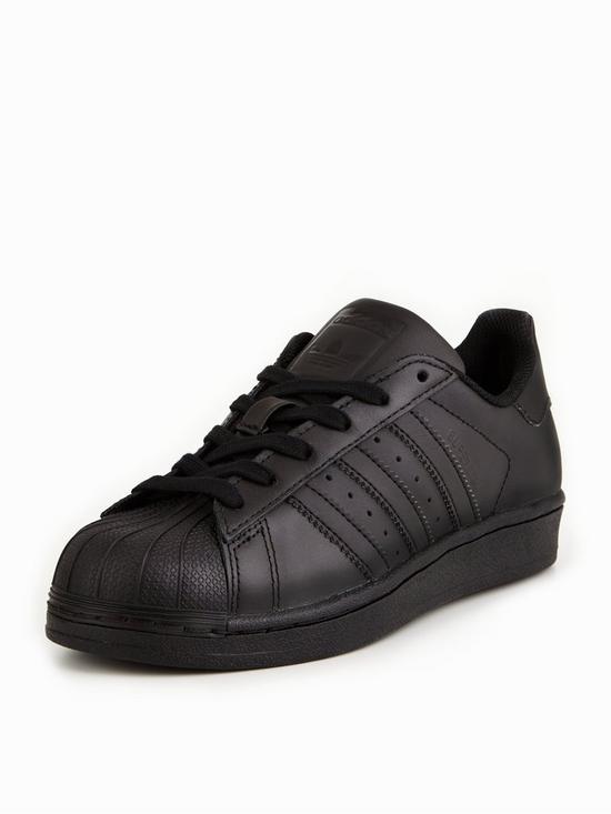 various colors 3d817 6bb9c adidas Originals Superstar Junior Trainer - Black