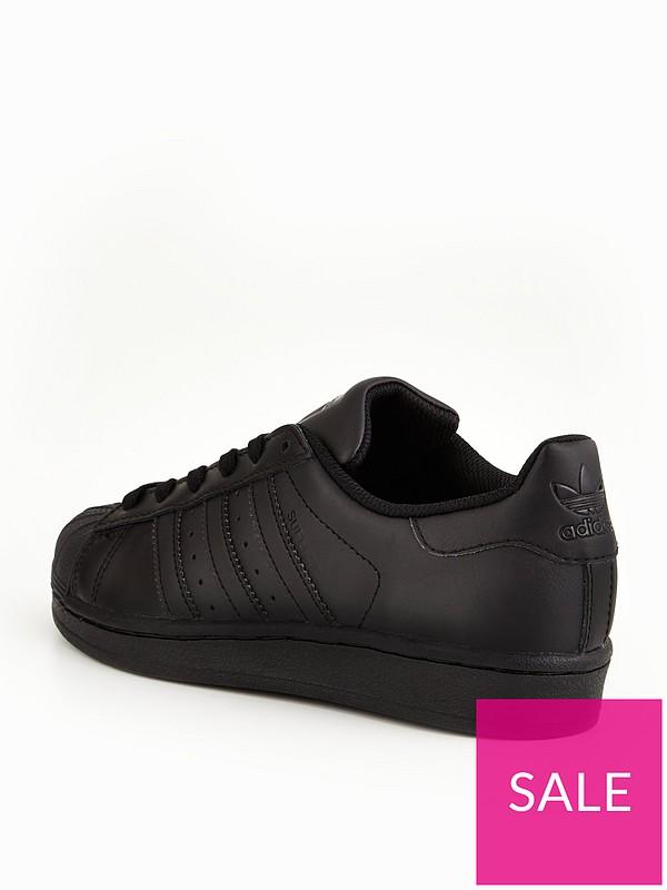 adidas superstar black junior