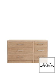Barlow Ready Assembled 3 + 3 Drawer Chest
