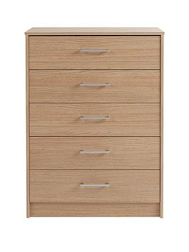 Barlow Ready Assembled 5 Drawer Chest