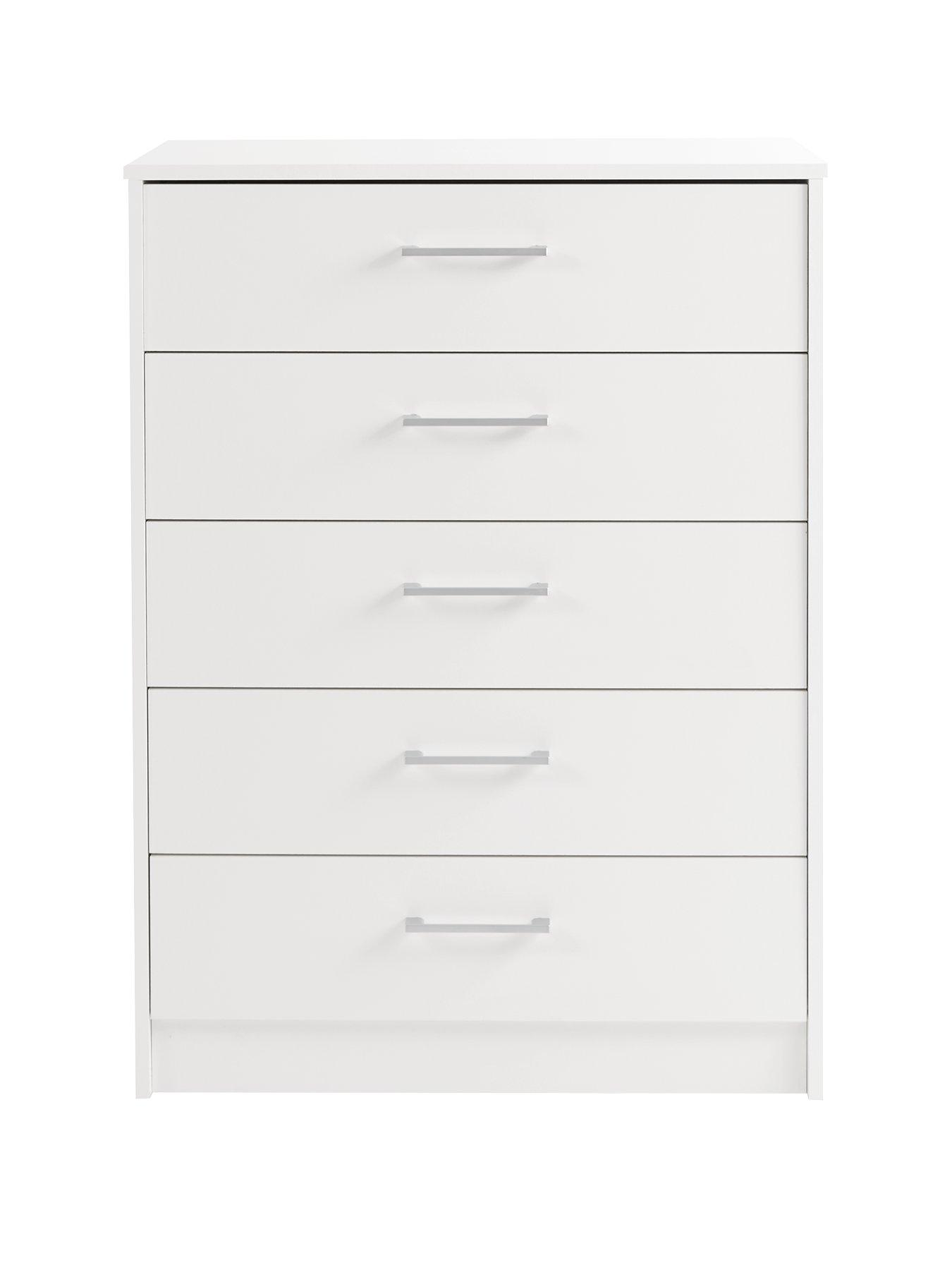 ready assembled white chest of drawers uk. barlow ready assembled 5 drawer chest white of drawers uk