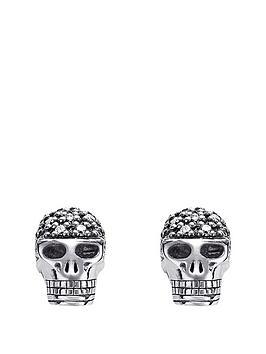 thomas-sabo-sterling-silver-rebel-at-heart-diamond-skull-earrings