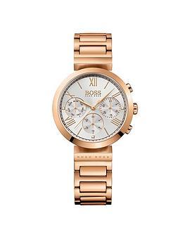 hugo-boss-black-hugo-boss-black-classic-white-chronograph-dial-gold-tone-bracelet-ladies-watch