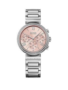 hugo-boss-black-classic-pink-chronograph-dial-stainless-steel-bracelet-ladies-watch