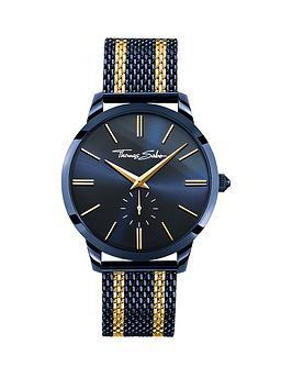thomas-sabo-rebel-spirit-mens-watch-blue-dial-42mm-2-tone-mesh-bracelet