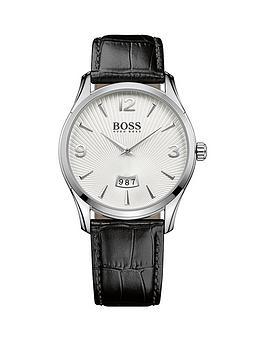 boss-commander-white-date-dial-black-leather-strap-mens-watch