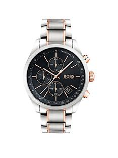 boss-black-grand-prix-black-chronograph-dial-two-tone-stainless-steel-mens-watch