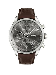 hugo-boss-black-hugo-boss-black-grand-prix-grey-chronograph-dial-brown-leather-strap-mens-watch