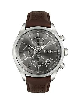 hugo-boss-black-hugo-boss-black-grand-prix-grey-chronograph-dial-brown-leather-strap-mens-watch