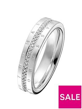 thomas-sabo-sterling-silver-diamond-set-signature-logo-ring-band