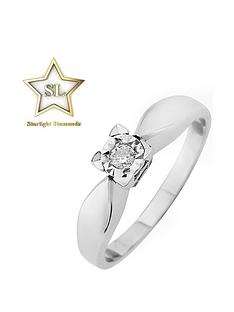 starlight-9ct-gold-12ct-princess-look-5-points-diamond-illusion-set-solitaire-ring
