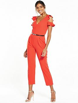 miss-selfridge-frill-belted-jumpsuit