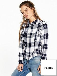 v-by-very-petite-long-sleeve-check-ruffle-shirt