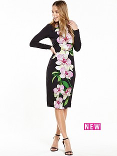 wallis-wallis-dotty-orchid-print-jersey-dress