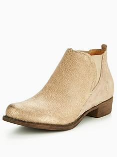 clarks-colindale-oak-metallic-ankle-boot