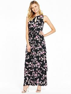 v-by-very-tiered-frill-printed-maxi-dress