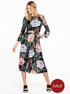 v-by-very-tie-sleeve-floral-bloom-midi-dress