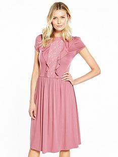 v-by-very-lace-ruffle-front-midi-dress