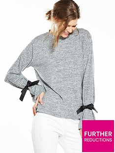 v-by-very-tie-sleeve-cuff-jersey-knit-top-greynbsp