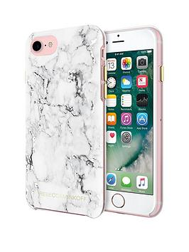 rebecca-minkoff-stylish-amp-slim-protective-double-up-marble-case-for-iphone-7-silver-foil