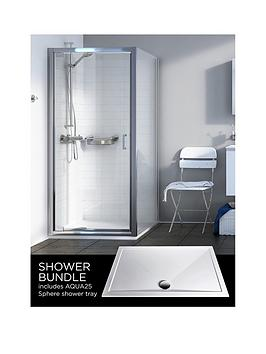 aqualux-source-pivot-door-side-panel-aq25-sphere-shower-tray-900-x-900mm